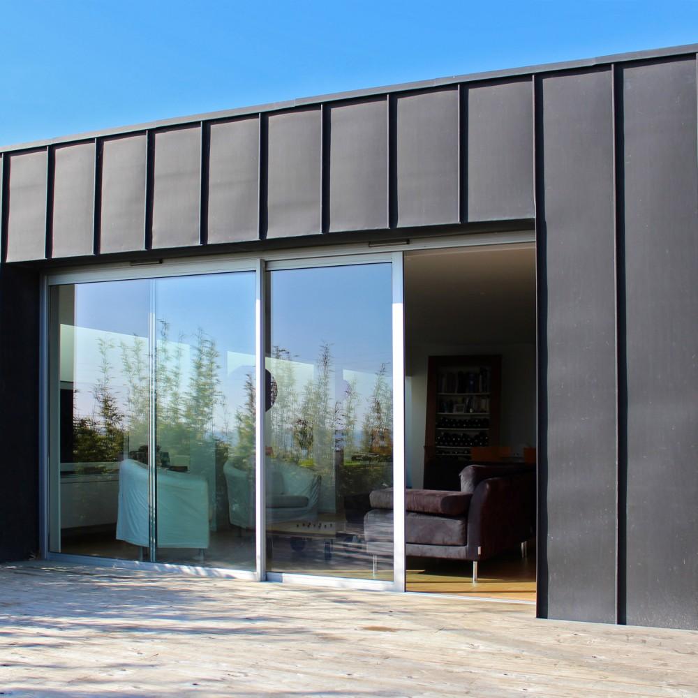Extension maison metallique excellent bast m vue for Extension maison ossature metallique